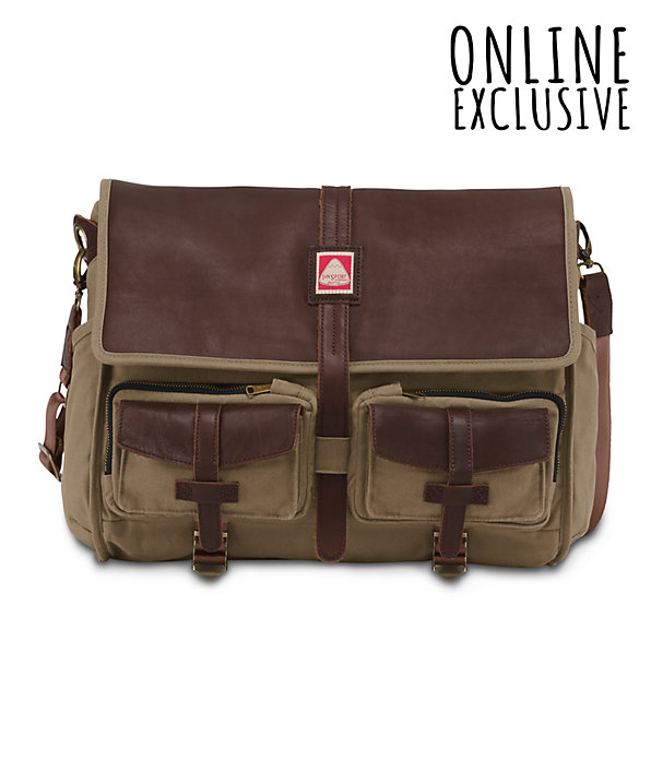 Geminate Messenger Bag | Leather Messenger Bag | JanSport