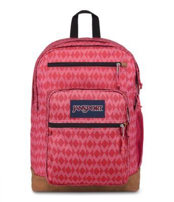 JanSport Cool Student Backpacks - Dark Magenta Diamond Plaid
