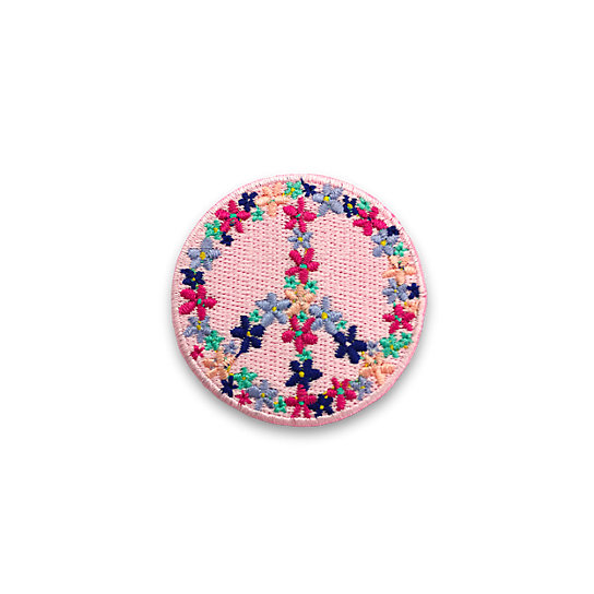 FLORAL PEACE SIGN PATCH