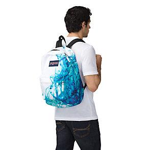Jansport Superbreak Backpack multi blue drip dye