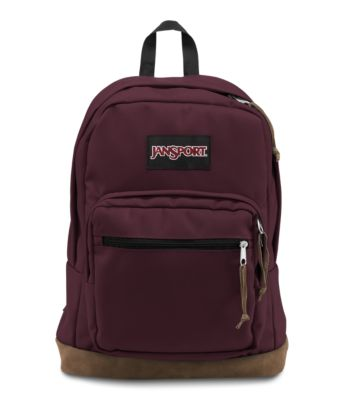 With its signature suede leather bottom, the JanSport Right Pack is the iconic JanSport classic backpack. With an internal 15 inch laptop sleeve and front organizer pocket, the Right Pack by JanSport is sure to be the best backpack for wherever your day takes you. It's the original classic, but sometimes pairing that with your outfits is all that is needed to complete a sophisticated style!