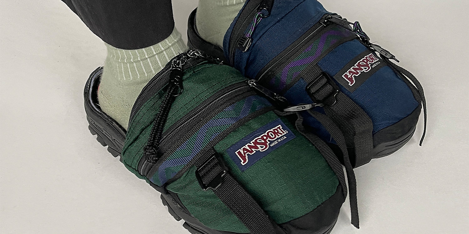 A pair of Jansport shoes